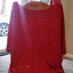 Sequined XL New Directions Top